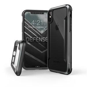 Xdoria - Carcasa Defense Shield Negra para iPhone X Xdoria