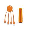 Xoopar After Work Power Pack adaptador multi conector + batería emergencia 2600 mAh naranja