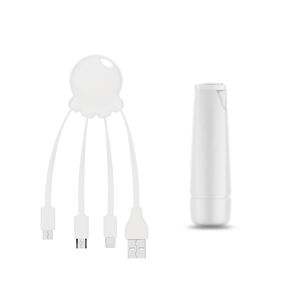 -Sin asignar- - Xoopar After Work Power Pack adaptador multi conector + batería emergencia 2600 mAh blanco
