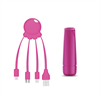 -Sin asignar- Xoopar After Work Power Pack adaptador multi conector + batería emergencia 2600 mAh rosa