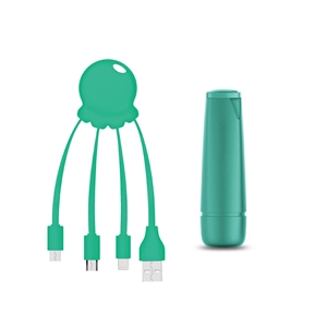<Sin asignar> - Xoopar After Work Power Pack adaptador multi conector + batería emergencia 2600 mAh verde