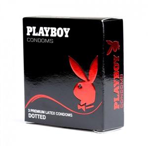 PLAYBOY Playboy Condón Con Puntos Pleasure 54mm 3 Uds