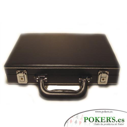 -Varios de Poker- - Maletín vacío 200 fichas imitación cuero negro