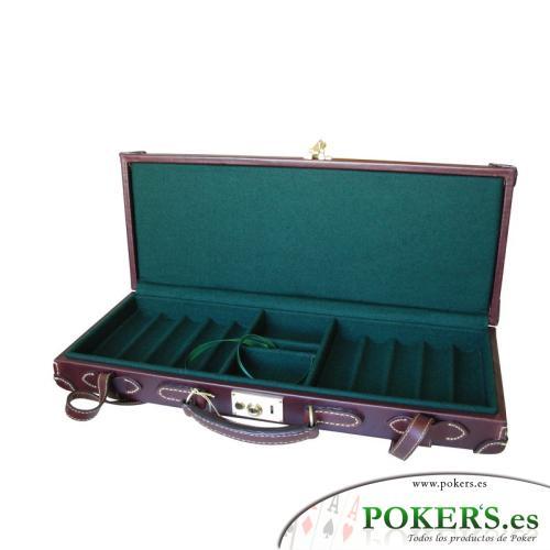 -Varios de Poker- - Maletín 500 fichas Cuero