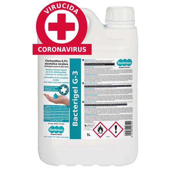 Bacterisan Gel Hidroalcohólico Sanitario Bacterigel G3 5L