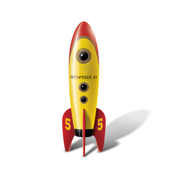 Big Teaze Toys Retro Rocket Pocket Amarillo