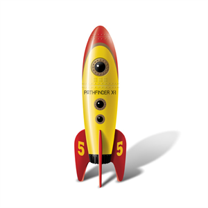 Big Teaze Toys - Retro Rocket Pocket Amarillo