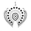 Bijoux Indiscrets - Bijoux Indiscrets Flamboyant Negro&plata