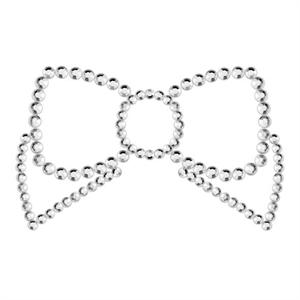 Bijoux Indiscrets Mimi Bow Cubre Pezones Plata