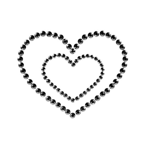 Bijoux Indiscrets Mimi Heart Cubre Pezones Negro.