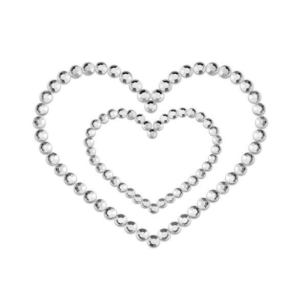 Bijoux Indiscrets - Mimi Heart Cubre Pezones Plata