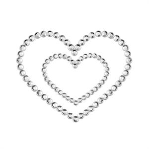 Bijoux Indiscrets Mimi Heart Cubre Pezones Plata