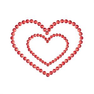 Bijoux Indiscrets Mimi Heart Cubre Pezones Rojo