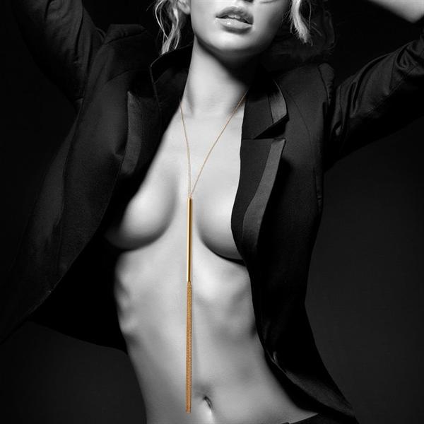 Bijoux Indiscrets - Bijoux Magnifique Collar / Latigo De Cadenas Metálicas