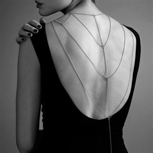Bijoux Indiscrets Magnifique Cadenas Metálicas Para Espalda Y Escote Silver