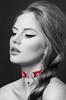 Bijoux Pour Toi - Bijoux Pour Toi  Collar Corazón Candado Negro Rojo