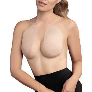 Bye Bra Breast Lift Pads + 3 Pairs Of Satin Nipple Covers - Beige Talla A-c