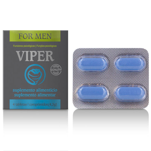Cobeco Pharma Viper Potenciador Masculino 4 Capsulas Es/Pt