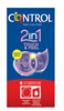 Control 2 In 1 Preservativo Touch Feel + Lubricante