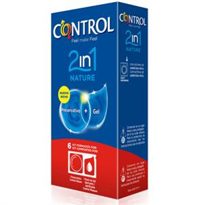 Control Duo Natura 2-1 Preservativo + Gel 6 Uds