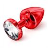 Diogol - Butt Plug Anni redondo rojo 30 mm