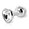 Diogol - Butt Plug Anni corazón de plata de 30 mm