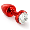 Diogol - Butt Annixitting vibrante Plug Rojo 34 mm