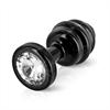 Diogol - Ano enchufe del extremo acanalado negro de 25 mm
