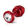 Diogol - Ano enchufe del extremo acanalado rojo 25 mm