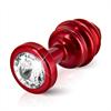 Diogol - Ano enchufe del extremo acanalado rojo 30 mm