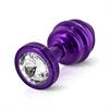 Diogol - Ano enchufe del extremo acanalado púrpura 25 mm