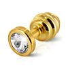 Diogol - Ano enchufe del extremo acanalado chapado en oro de 25 mm