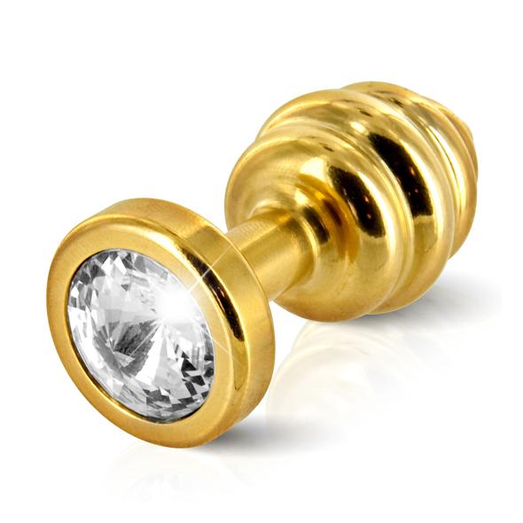Diogol - Diogol - Ano enchufe del extremo acanalado chapado en oro de 30 mm