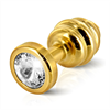 Diogol - Ano enchufe del extremo acanalado chapado en oro de 30 mm