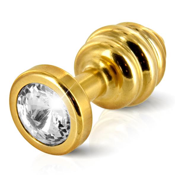 Diogol - Diogol - Ano enchufe del extremo acanalado chapado en oro de 35 mm