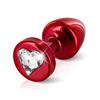 Diogol - Anni R enchufe del extremo rojo del corazón 25 mm
