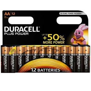 Duracell Plus Power Pila Alcalina Aa Lr6 Blister*12