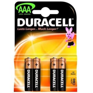 Duracell Basic Pila Alcalina Aaa Lr03 Blister*4
