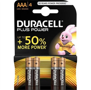 Duracell Plus Power Pila Alcalina Aaa Lr03 Blister*4