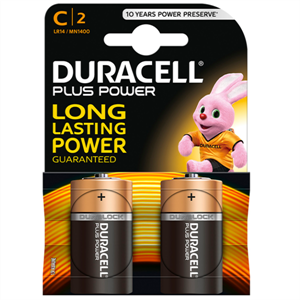 Duracell Plus Power Pila Alcalina C Lr14 Blister*2