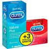Durex Natural Plus 12 Unidades + 3 Durex Sensitivos