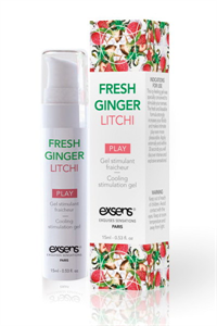 Exsens - Cooling Stimulation Gel Fresh Ginger Litchi 15 ml.