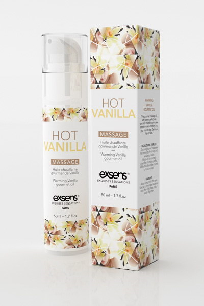 Exsens - WARMING GOURMET MASSAGE  OIL HOT VANILLA 50ML