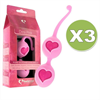 Feelztoys Desi Bolas Chinas Rosa Pack 3
