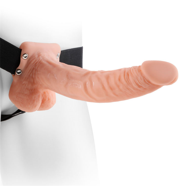 Fetish Fantasy - Arnés Hollow Strap-on With Balls 9&quote; 22.9cm