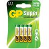 Gp Batteries Gp Super Alkaline Pila Alcalina Aaa Lr03 Blister*4