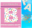 Inedit Guirnalda Bienvenido Bebe (cartulina 220gr)