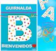 Inedit Guirnalda Bienvenidos (cartulina 220gr)