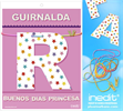 Inedit Guirnalda Buenos Dias Princesa (cartulina 220gr)