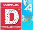 Inedit Guirnalda Felicidades Padre (cartulina 220gr)